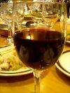 試飲した赤ワイン