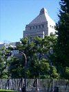 裏から見た国会議事堂