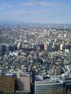 都庁31階から丹沢山系方面を望む