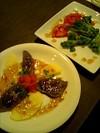 前菜と鹿肉とリンゴのカルパッチョ