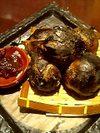 小玉葱の黒焼き